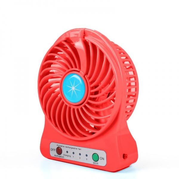 картинка Настольный мини вентилятор с LED лампой от магазина IQ-Robot