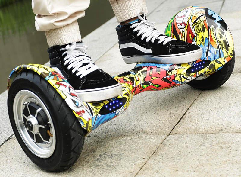 "Гироскутер 10"" Smart Balance Wheel SUV (графити с черепами / Hip-Hop)"